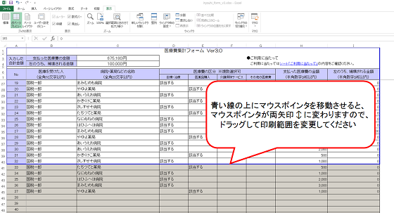 医療 費 控除 の 明細 書 エクセル